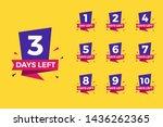 number of days left for... | Shutterstock .eps vector #1436262365
