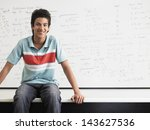 portrait of happy teenage boy... | Shutterstock . vector #143627536