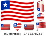 liberian national flag. vector... | Shutterstock .eps vector #1436278268