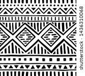 seamless ethnic pattern.... | Shutterstock .eps vector #1436310068