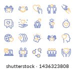 friendship and love line icons. ... | Shutterstock .eps vector #1436323808
