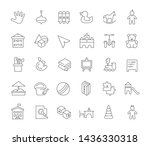 set of vector line icons of... | Shutterstock .eps vector #1436330318