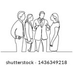 continuous line drawing of... | Shutterstock .eps vector #1436349218