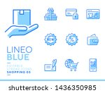 lineo blue   shopping and e... | Shutterstock .eps vector #1436350985