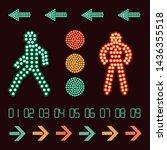 Vector Set Of Traffic Light...