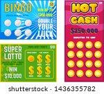 lottery ticket vector lucky... | Shutterstock .eps vector #1436355782