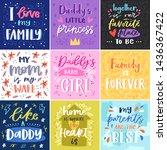 family lettring vector lovely... | Shutterstock .eps vector #1436367422