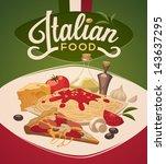 italian food | Shutterstock .eps vector #143637295