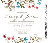 wedding invitation card   Shutterstock .eps vector #143640262