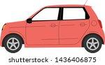 red mini car icon vector...