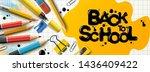 back to school sale horizontal... | Shutterstock .eps vector #1436409422