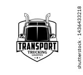 transport trucking logistics... | Shutterstock .eps vector #1436433218