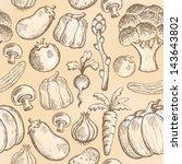 seamless background vegetable 2 ... | Shutterstock .eps vector #143643802