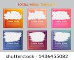 editable post template social... | Shutterstock .eps vector #1436455082