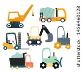set of funny construction... | Shutterstock .eps vector #1436460128