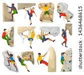 mountain climbing climber... | Shutterstock . vector #1436468615