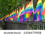 Small photo of New York City, NY, USA 6/25/19 - Stonewall National Monument to Gay rights movement and 1969 Riots. LGBTQ+ civil rights in New York City, Manhattan. gay pride. Stonewall riots. Civil rights