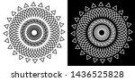 mandala design with petals  ... | Shutterstock .eps vector #1436525828