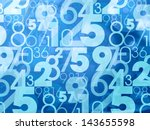 blue abstract numbers background | Shutterstock . vector #143655598