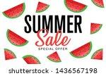 summer sale banner  hot season... | Shutterstock .eps vector #1436567198