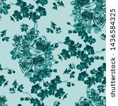 seamless pattern with... | Shutterstock . vector #1436584325