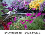 old bicycle and colorful flowers | Shutterstock . vector #143659318