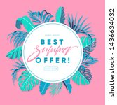 summer sale banner design. best ... | Shutterstock .eps vector #1436634032