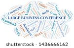 large business conference word... | Shutterstock .eps vector #1436666162