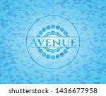 avenue light blue mosaic emblem | Shutterstock .eps vector #1436677958