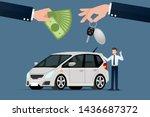 the car dealer's make an...   Shutterstock .eps vector #1436687372