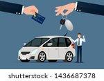 the car dealer's make an...   Shutterstock .eps vector #1436687378