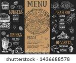 restaurant brochure vector menu ... | Shutterstock .eps vector #1436688578