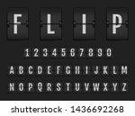 flip countdown digital calendar ... | Shutterstock .eps vector #1436692268