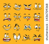 cartoon emotion set  different... | Shutterstock .eps vector #1436709368