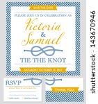 wedding invitation cards set ... | Shutterstock .eps vector #143670946