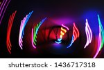 Small photo of snazzy decorative lights whirl in the dark