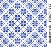 azulejos portuguese traditional ... | Shutterstock .eps vector #1436744162