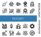 set of rocket icons such as... | Shutterstock .eps vector #1436766308