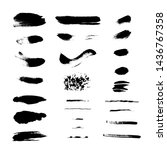 a collection of black brush...   Shutterstock .eps vector #1436767358