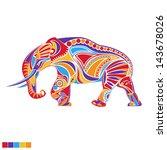 painted vector elephant   Shutterstock .eps vector #143678026
