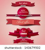 set of superior quality and... | Shutterstock .eps vector #143679502