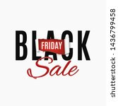 black friday sale abstract... | Shutterstock .eps vector #1436799458