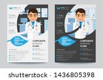 healthy flyer poster pamphlet... | Shutterstock .eps vector #1436805398