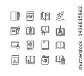 books line icon set. novel ... | Shutterstock .eps vector #1436815862