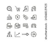 interest rate line icon set.... | Shutterstock .eps vector #1436815925