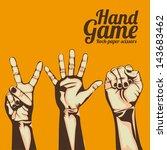 hand game over orange... | Shutterstock .eps vector #143683462