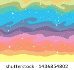 pixel art sky with stars sunset ...