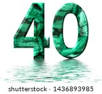 arabic numeral 40  forty  from... | Shutterstock . vector #1436893985