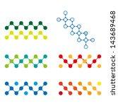 colorful design molecule logo... | Shutterstock .eps vector #143689468