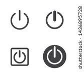 power or shutdown icon with... | Shutterstock .eps vector #1436895728